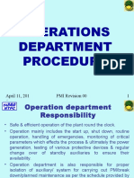 Operation Department Procedure
