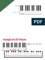Diagrama de algunos acordes en Piano