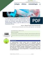 3.3 Epidemiología Clínica Metodología y Aplicaciones