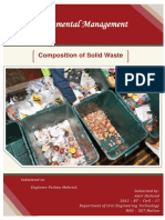 Composition of Solid Waste
