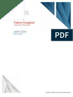 Talent Insights - Talentos Pessoais