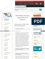 100 Sap hana interview questions | Sql | Databases