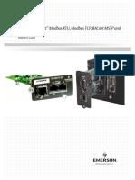 Liebert IntelliSlot Modbus RTU Modbus TCP BACnet MSTP and BACnet IP