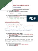 Autoexamen Word Basico