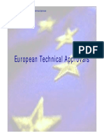 European Technical Approvals