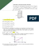 4 Exercícios de Pressão Hidrostática e Absoluta (Aula 04)