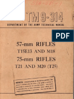 TM 9-314 57-mm Rifles, T15E13 and M18__75-mm Rifles, T21 and M20 (T25) 19490322