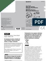 A 700 Manual en español