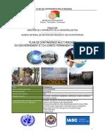 Plan de contingence multi-risques du gouvernement et du comité permanent inter-agences