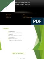 Case Presentation on Chronic Kidney Disease1