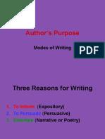 authors purpose 6th grade