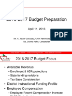 CCISD 2016-2017 Budget Preparation