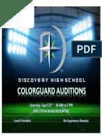 colorguard audition flyer -dhs