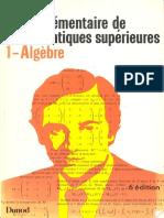 Tome I - Algèbre