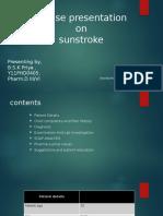 Case Presentaion on Sunsroke