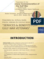 """PPT-""""Services and Benefits for Gulf War Veterans"""" - Anthony Hardie"""