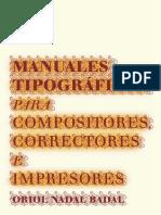 Manuales Tipograficos Oriol Nadal