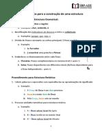 Breves Passos Para a Construção de Uma Estrutura Gramatical e Retórica