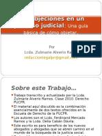 Las Objeciones en Un Proceso Judicial
