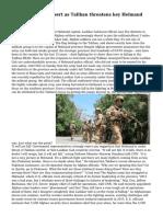 Afghan soldiers desert as Taliban threatens key Helmand capital