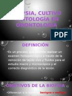 Biopsia, Cultivo y Citología en Odontología