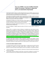 Breve Análisis de La Ley 30056 -peru