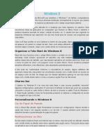 Windows 8 Visão Rapida