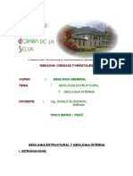 Geologia Estructural y Geologia Interna