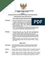 Peraturan BNSP No 3 BNSP III 2014 tentang Pedoman Ketentuan Umum Lisensi Lembaga Sertifikasi Profesi.pdf