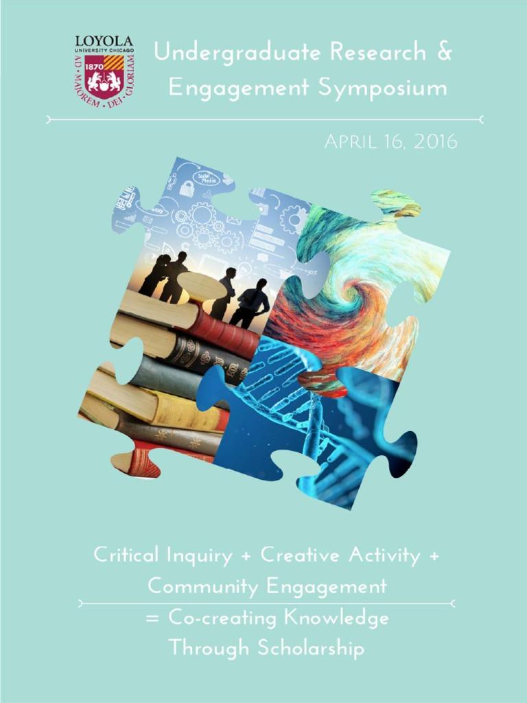 2016 Undergraduate Research & Engagement Symposium Program ...