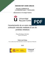 Caracterización de Un Acero Español de Activación Reducida Mediante El Uso de Probetas Miniatura