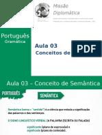 Missão Diplomática - Gramática - Aula 3 - Coneitos de Semântica