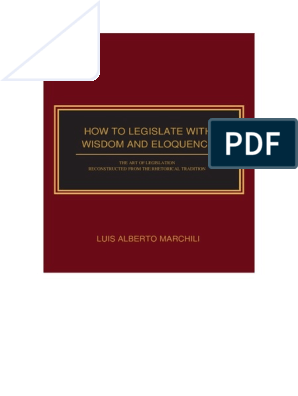 Luis A Marchili Full Text Of How To Legislate With Wisdom