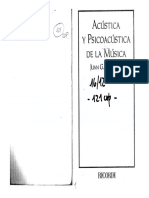 Roederer Juan - Acústica y psicoacústica de la música