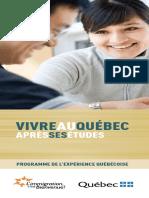 Vivre Quebec Etudiant PEQ