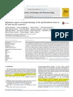 Regulatory Aspects of Nanotechnology