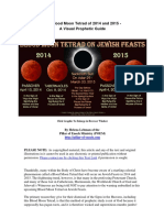 The Blood Moon Tetrad of 2014 and 2015 -  A Visual Prophetic Guide