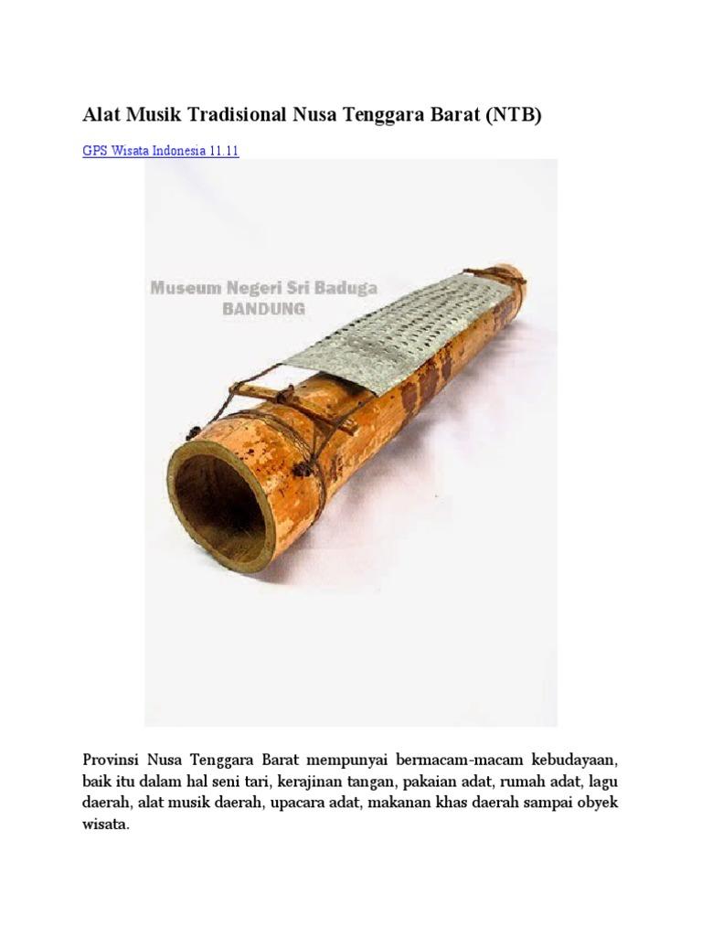 87+ Gambar Alat Musik Nusa Tenggara Kekinian