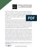 Caldera Ortega, Alex Ricardo. Gobernanza y Proyectos Políticos Una Revisión Crítica Desde La Teoría Normativa de La Democracia. México D.F.
