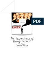 Importance of Being Earnest - Binder Cover