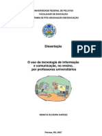 GARCEZ, Renata Oliveira  O uso das TICs, no ensino, por professores universitarios