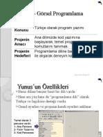 yunusProgramming