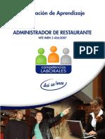 Administrador de Restaurante - OA