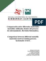 comparación de estudios sobre el entrenamiento en superficies inestables vs. entrenamiento en superficies estables.
