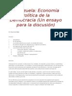 Venezuela Economia Politica de La Democracia