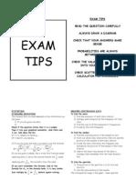 Statistics Exam Tips