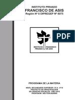 Ifa - Proyecto de Investigación en Ciencias Sociales - 6º a y b - Boeris - Programa de La Materia - Programa de Examen - Planificacion Anual 2016