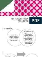 Psicopatología de La Psicomotriz