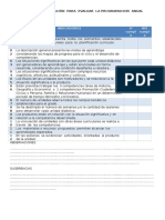 Ficha de Observacion Para Evaluar La Programacion Anual