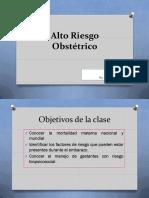 CLASE Nº2 Alto Riesgo Obstétrico